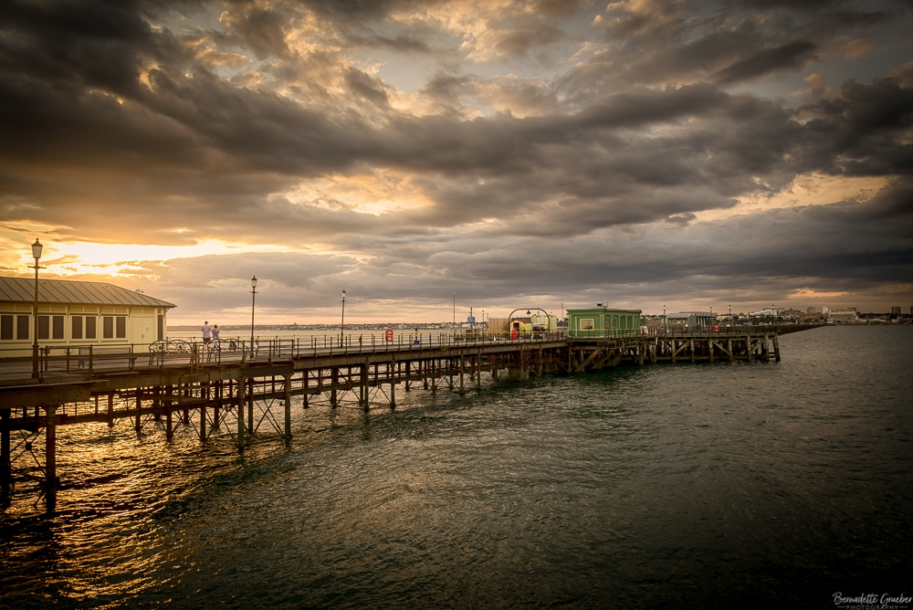 BG Southend Pier at Sunset, England