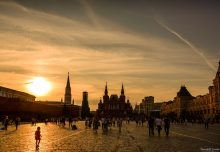 BG Sunset over Red Square in Moscow, Russia