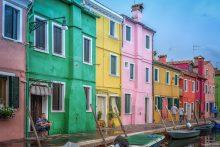 BG Street life in Burano, Venice, Italy