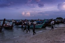 BGP The fishermen at the end of the day, Ko Lipe Island, Thailand