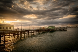 BGP Southend Pier as the sun goes down, England